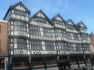 Tudor shops in Chester