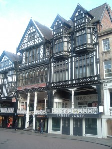 Tudor building showing row